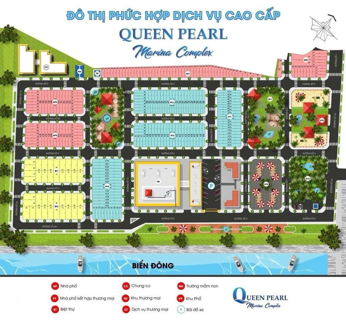 Mặt bằng Dự án Queen PearlMarina Complex Bình Thuận