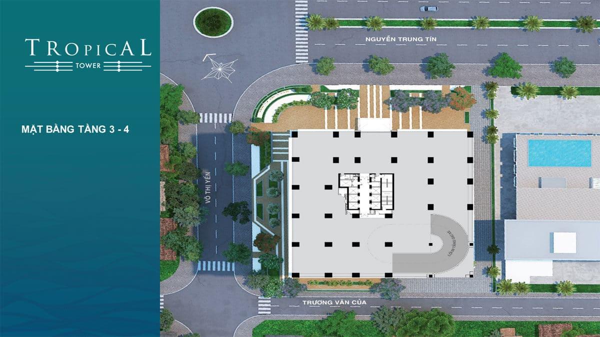 mat bang tang 3 4 toa tropical tower - DỰ ÁN CĂN HỘ CONDOTEL QUY NHƠN MELODY