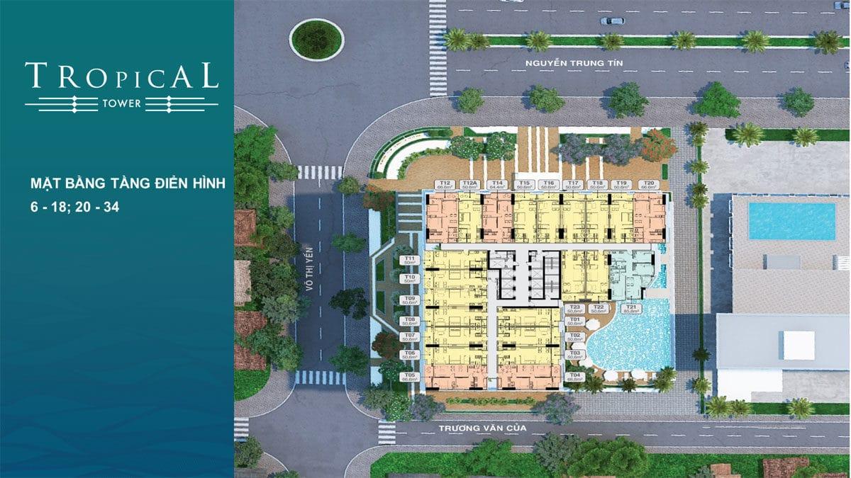mat bang tang 6 18 20 34 toa tropical tower - DỰ ÁN CĂN HỘ CONDOTEL QUY NHƠN MELODY