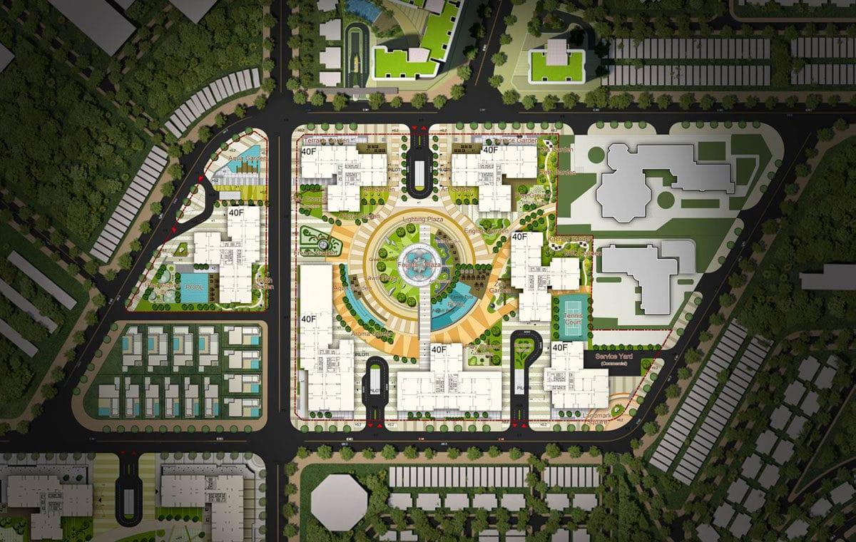 Mặt bằng Tổng thể Dự án Raemian Galaxy City