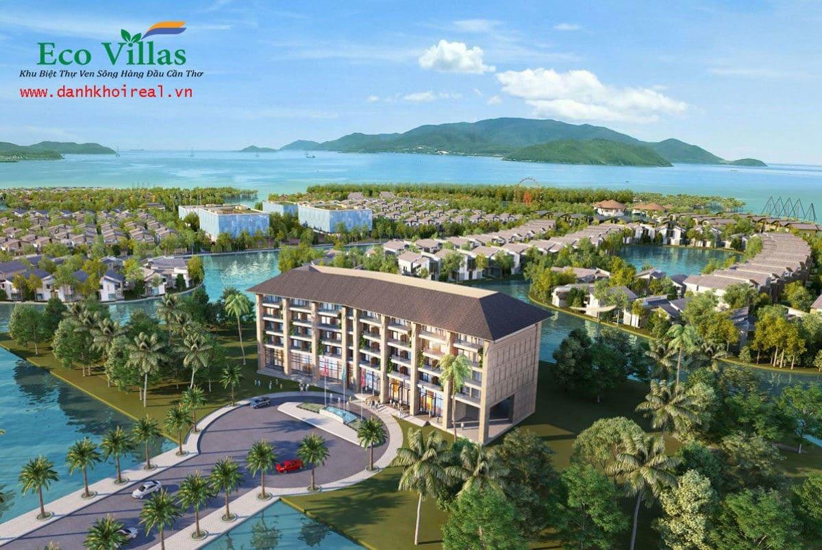 phoi canh khu hanh chanh du an eco villas con khuong can tho - DỰ ÁN ECO VILLAS CỒN KHƯƠNG CẦN THƠ