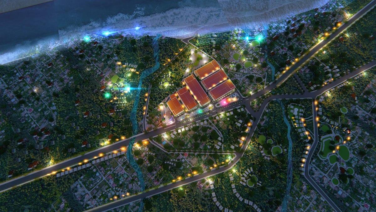 Phối cảnh Dự án Khu đô thị SeaMall Bình Châu về đêm