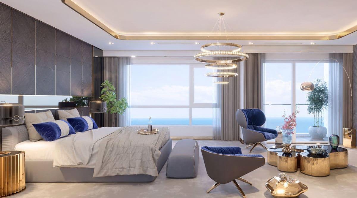 Phòng ngủ View Biển Căn hộ Condotel Oyster Gành Hào