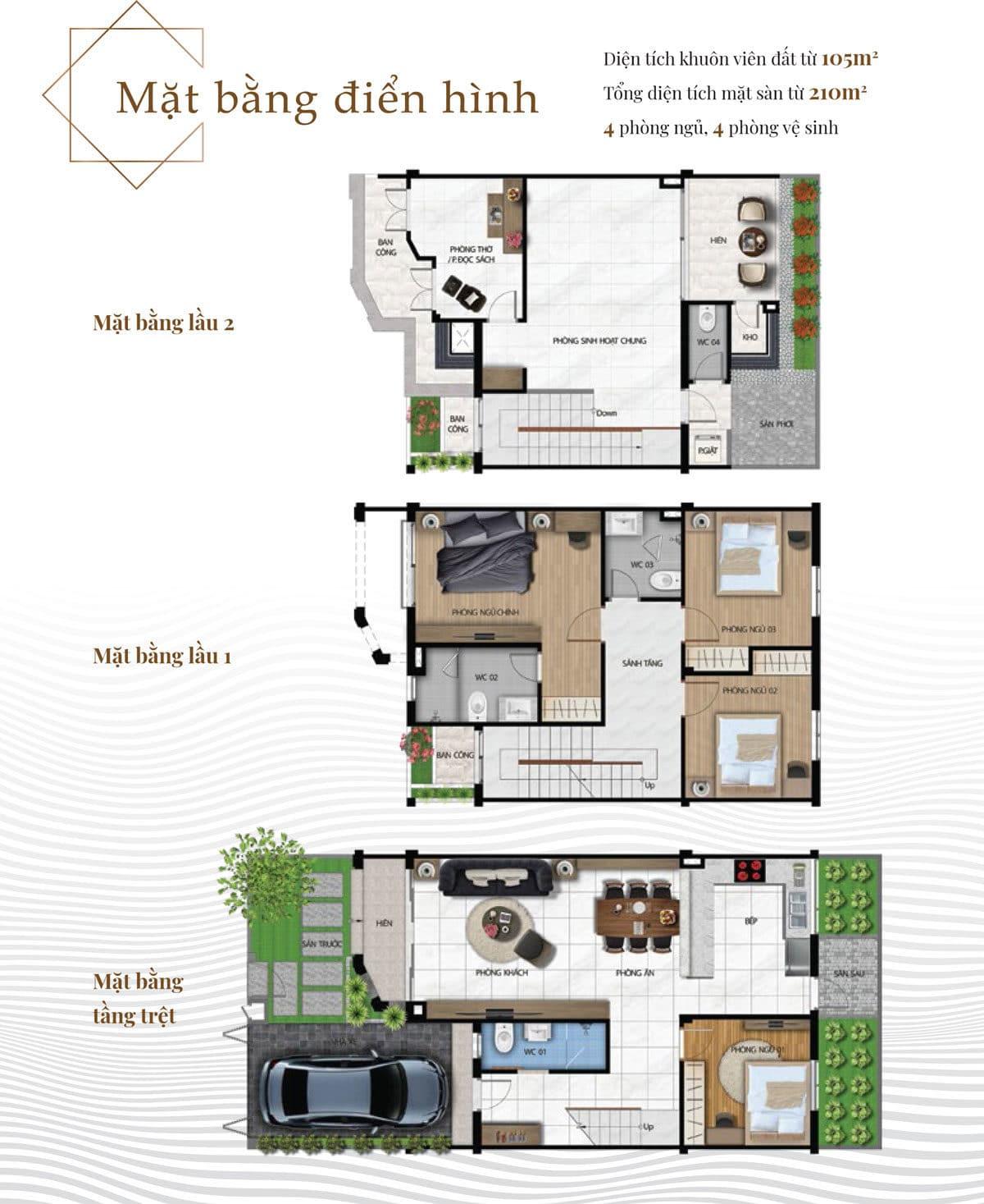 Thiết kế Căn Biệt thự Pi Home Quận 12