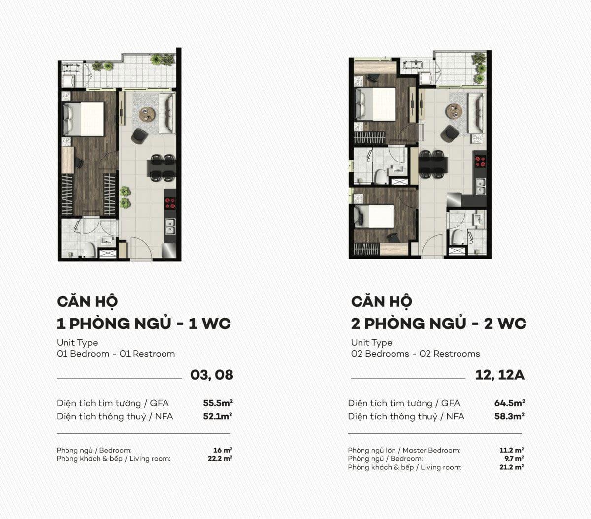 Thiết kế căn hộ 1 PN Smartel Signial Quận 7