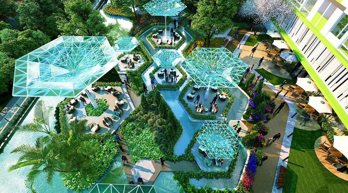 Tiện ích công viên Dự án Căn hộ Raemian Galaxy City Quận 2