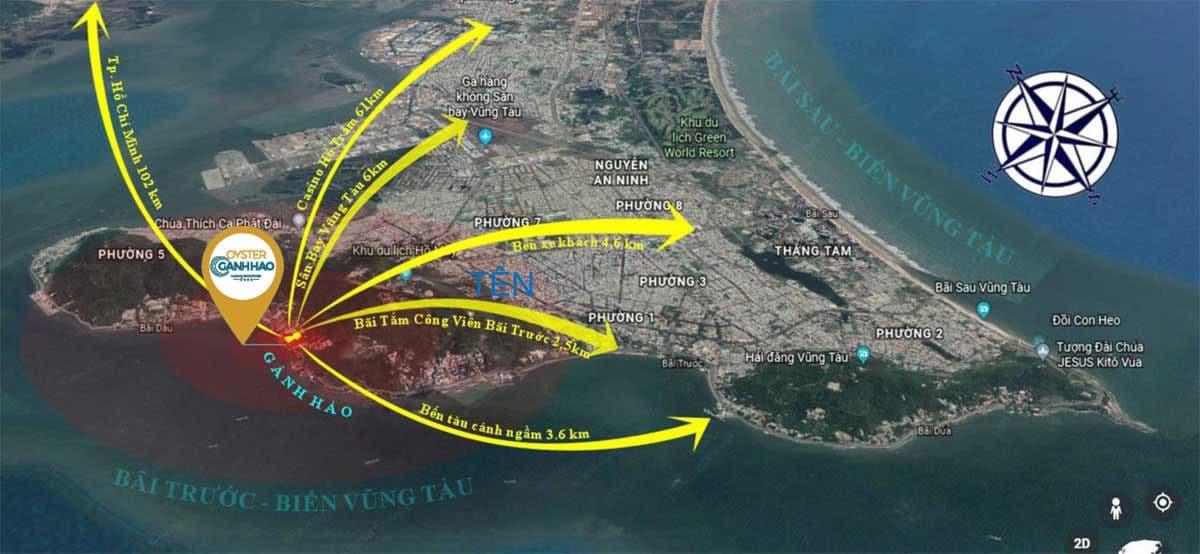 Tiện ích kết nối khu vực Dự án Căn hộ Condotel Oyster Gành Hào Vũng Tàu