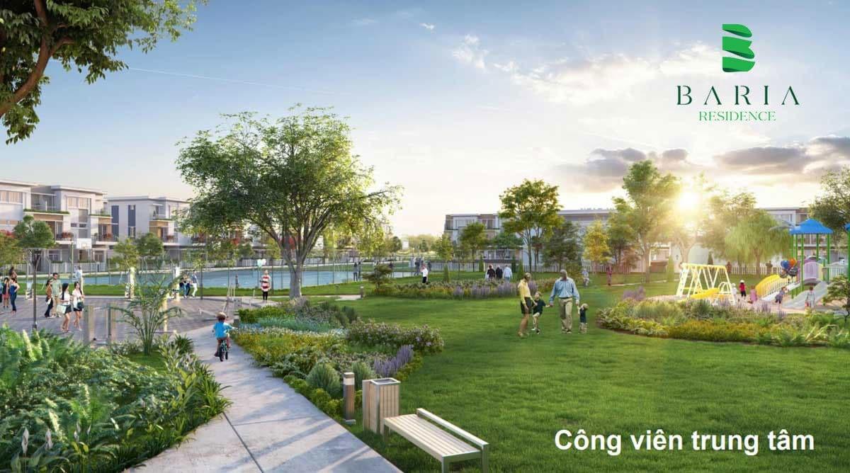 Tiện ích công viên tại Dự án Đất nền Baria Residence