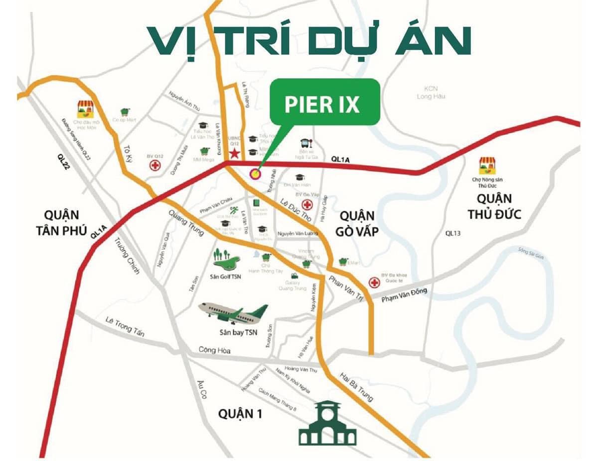 vi tri du an Pier IV thoi an - DỰ ÁN NHÀ PHỐ PIER IX THỚI AN QUẬN 12