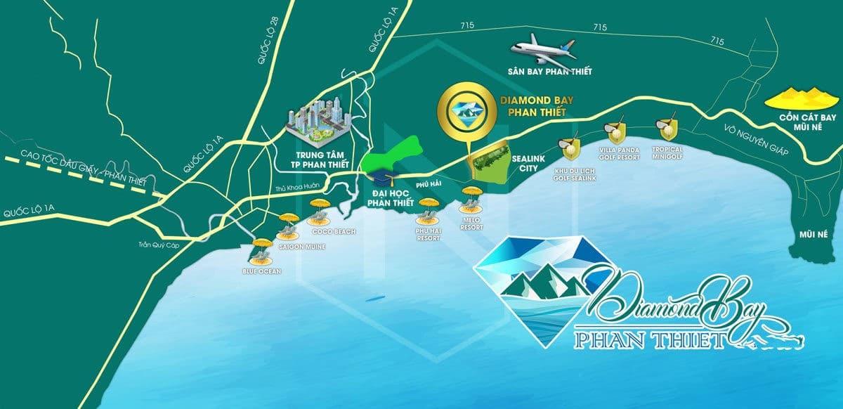 Vị trí Dự án Diamond Bay Phan Thiết