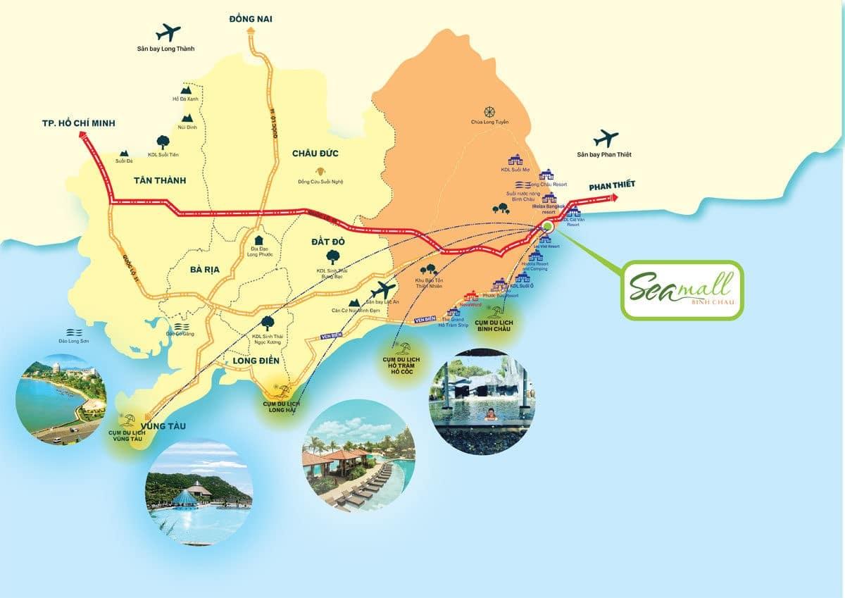 Bản đồ Vị trí Dự án SeaMal Bình Châu