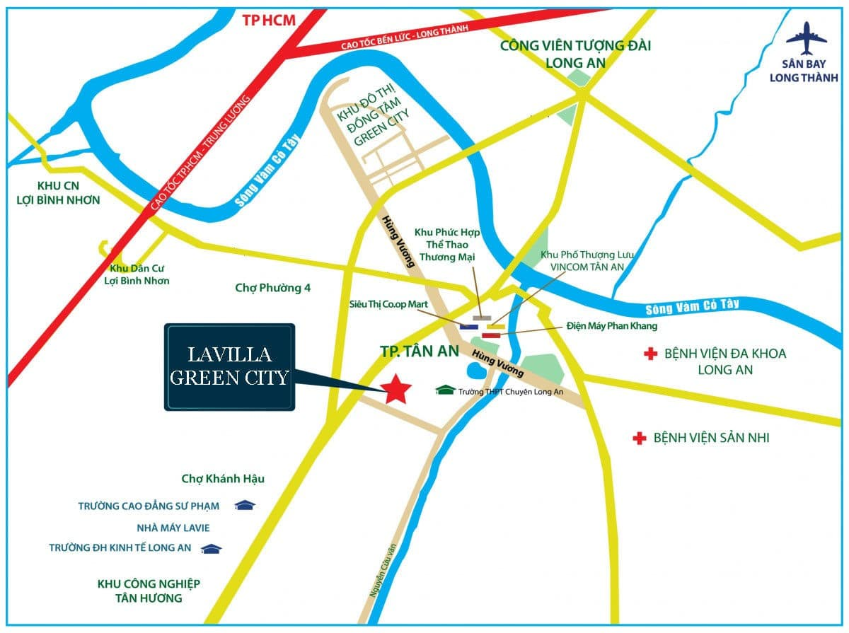 vi tri du an lavilla green city long an - DỰ ÁN LAVILLA GREEN CITY LONG AN
