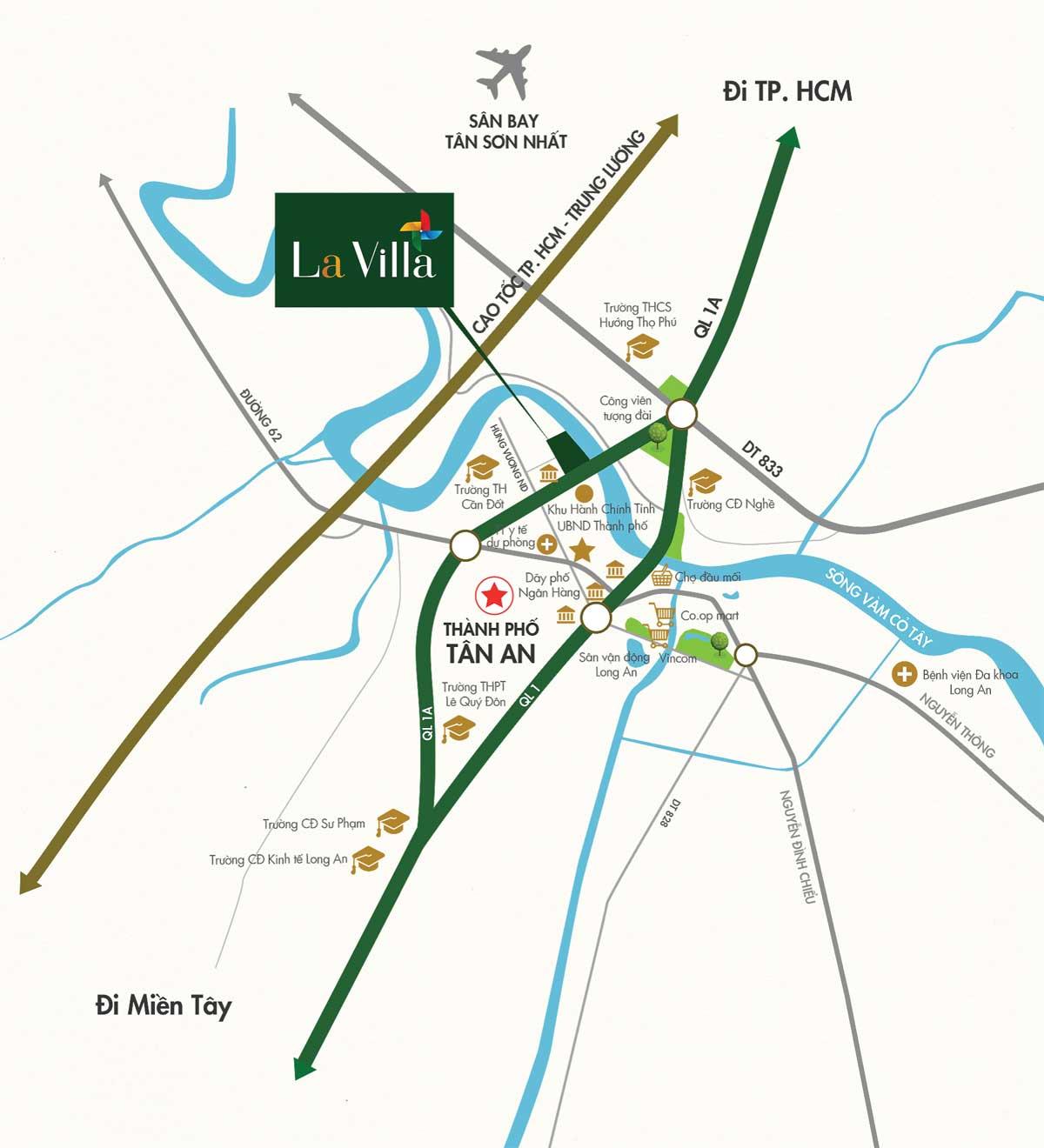 vi tri du an lavilla green city - DỰ ÁN LAVILLA GREEN CITY LONG AN