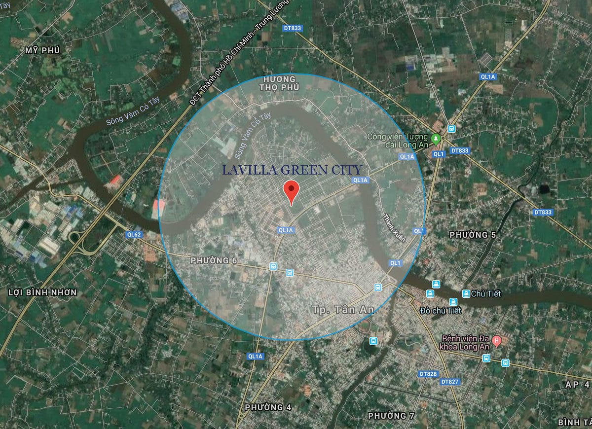 vi tri thuc te lavilla green city - DỰ ÁN LAVILLA GREEN CITY LONG AN