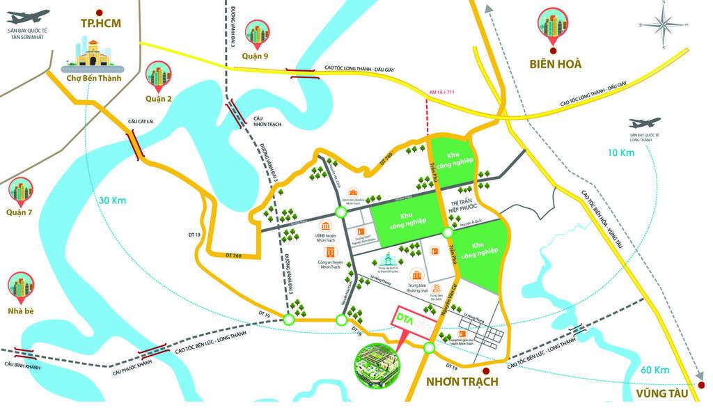 Vị trí Happy Home DTA City - DỰ ÁN KHU ĐÔ THỊ DTA CITY