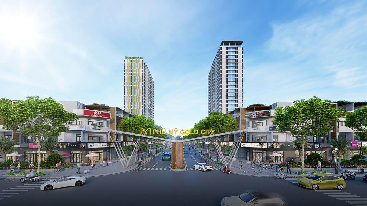 Cổng chào Dự án Phu My Gold City