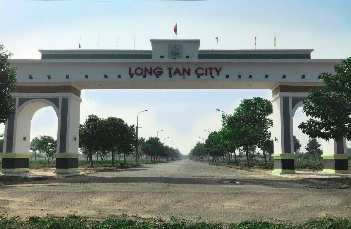 Cổng Dự án Long Tân City Nhơn Trạch Đồng Nai