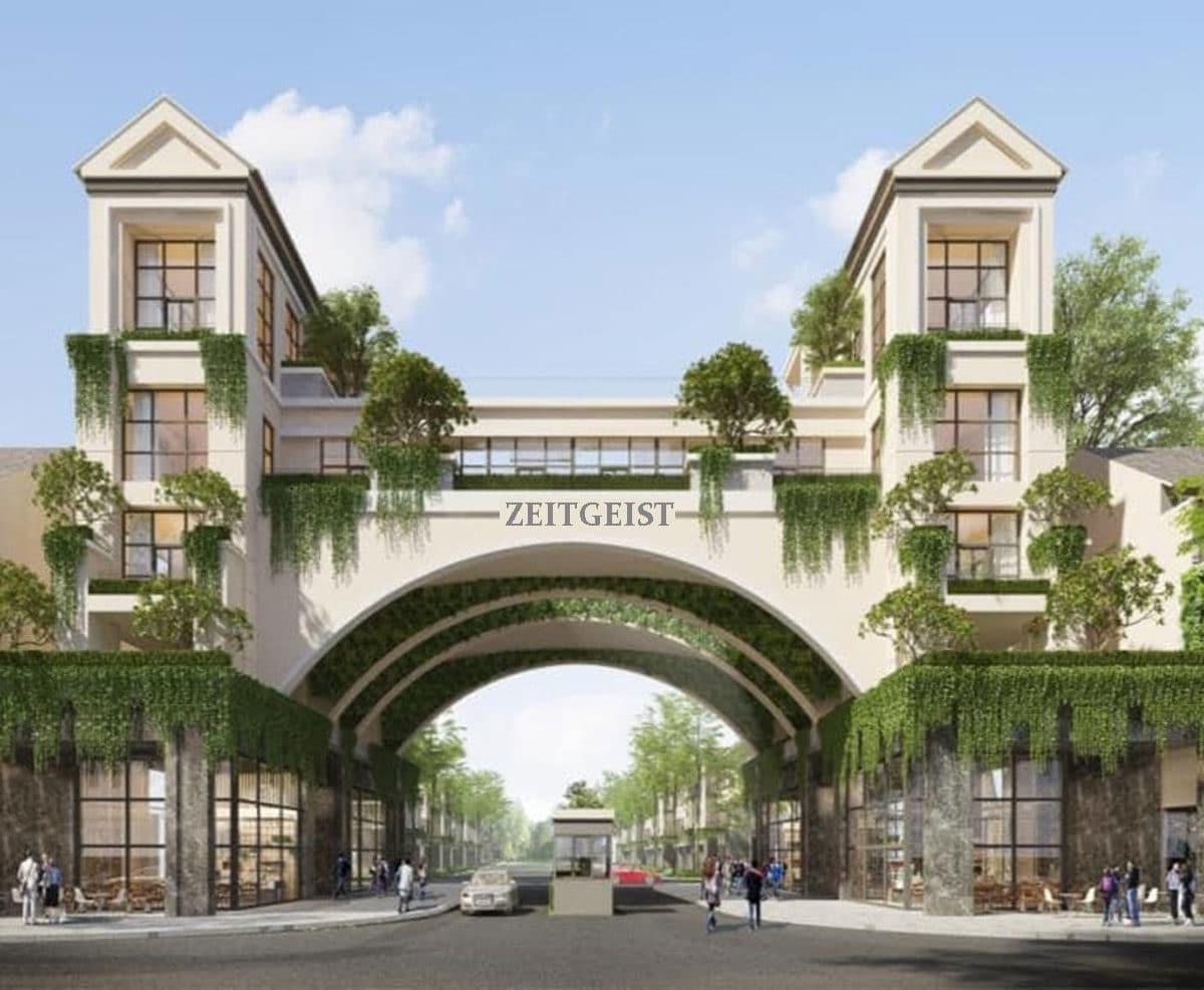 Cổng Dự án Đại đô thị Zeitgeist Nhà Bè