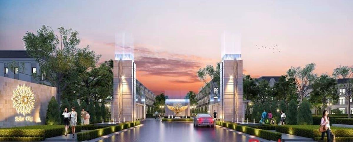 Cổng chào Dự án Solar City Bến Lức Long An