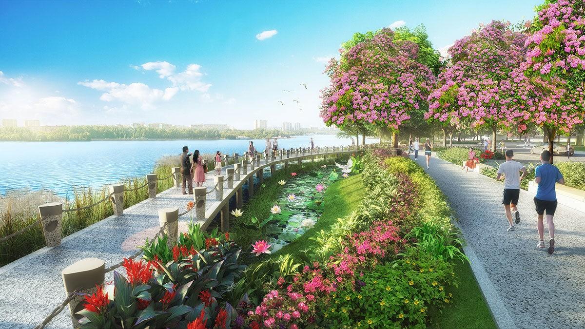 Đường dạo bộ Dự án Phú Mỹ Gold City