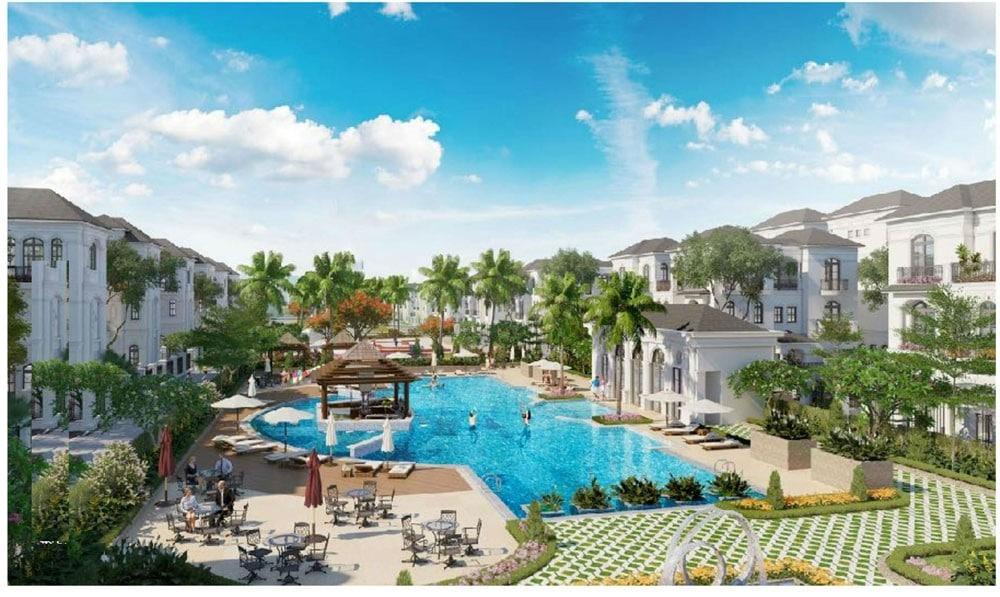 Hồ bơi Vô cự tại Crown Villas