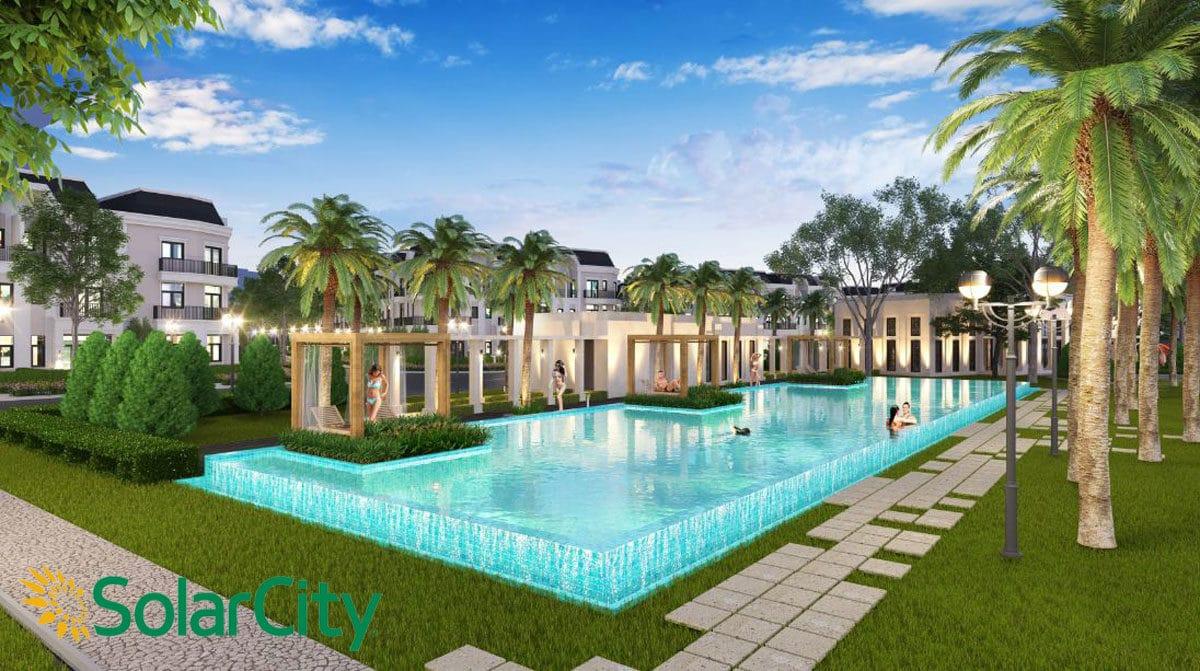 Hồ bơi nội khu Dự án Solar City Bến Lức Long An