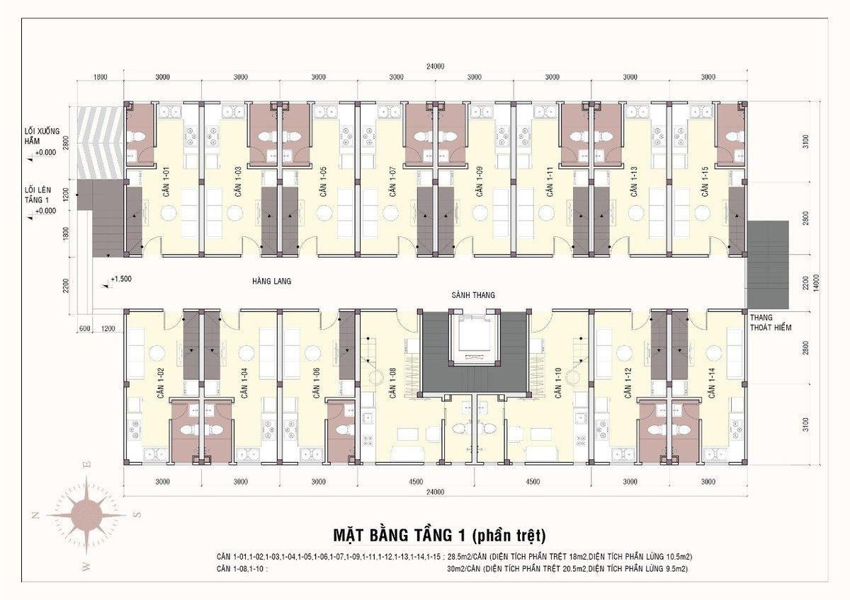 mặt bằng 9x house - DỰ ÁN CĂN HỘ 9X HOUSE