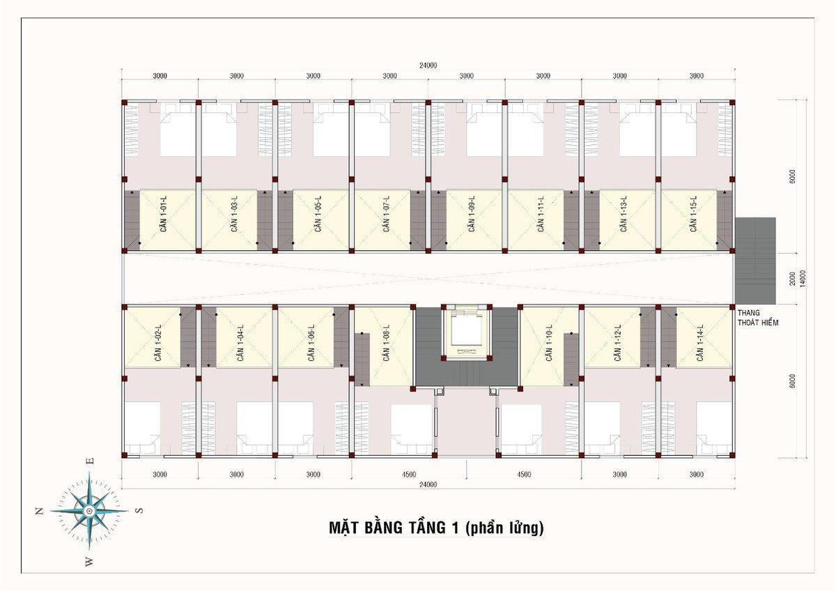 mặt bằng tầng lửng 9x house - DỰ ÁN CĂN HỘ 9X HOUSE