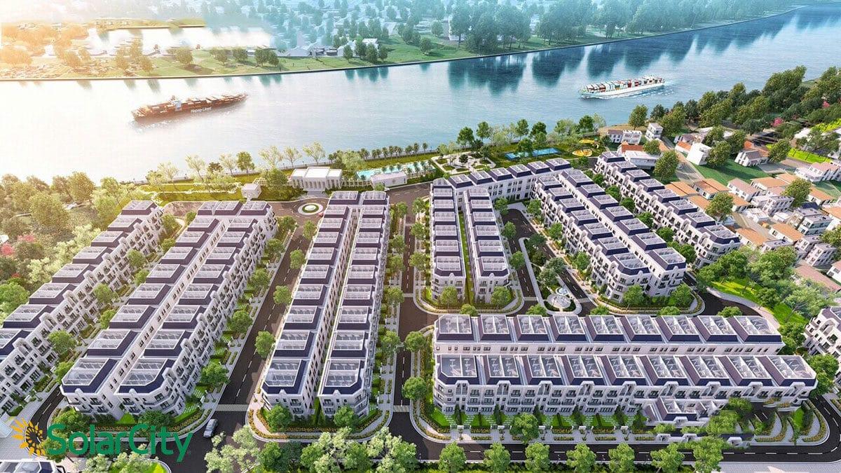 phoi canh nha pho du an solar city - DỰ ÁN SOLAR CITY BẾN LỨC LONG AN