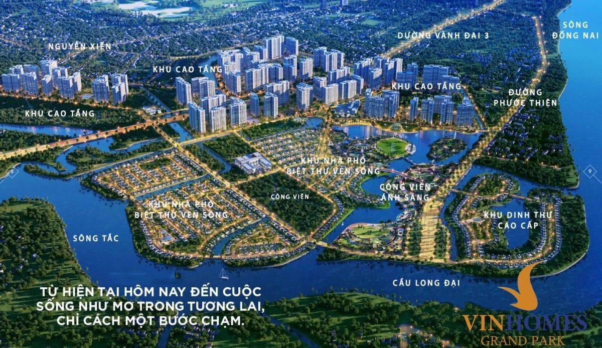 Quy hoạch các phân khu trong Dự án Vinhomes Grand Park Quận 9