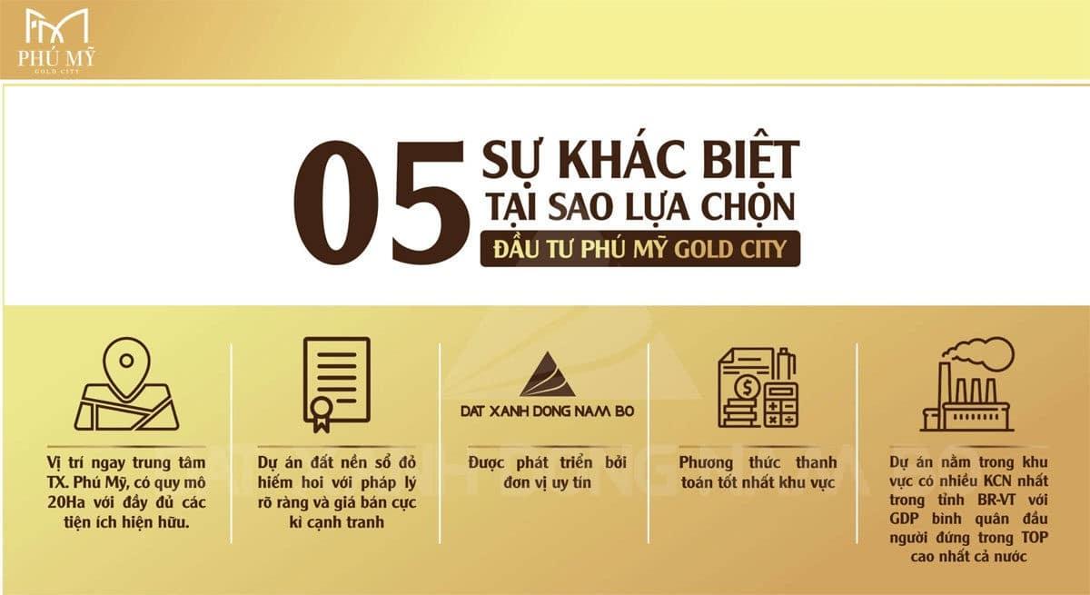 05 Sự khác biệt để quyết định mua Dự án Phú Mỹ Gold City