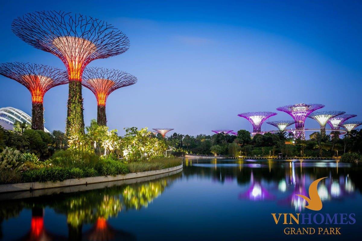 Công viên Ánh sáng phong cách Singapore tại Vinhomes Grand Park