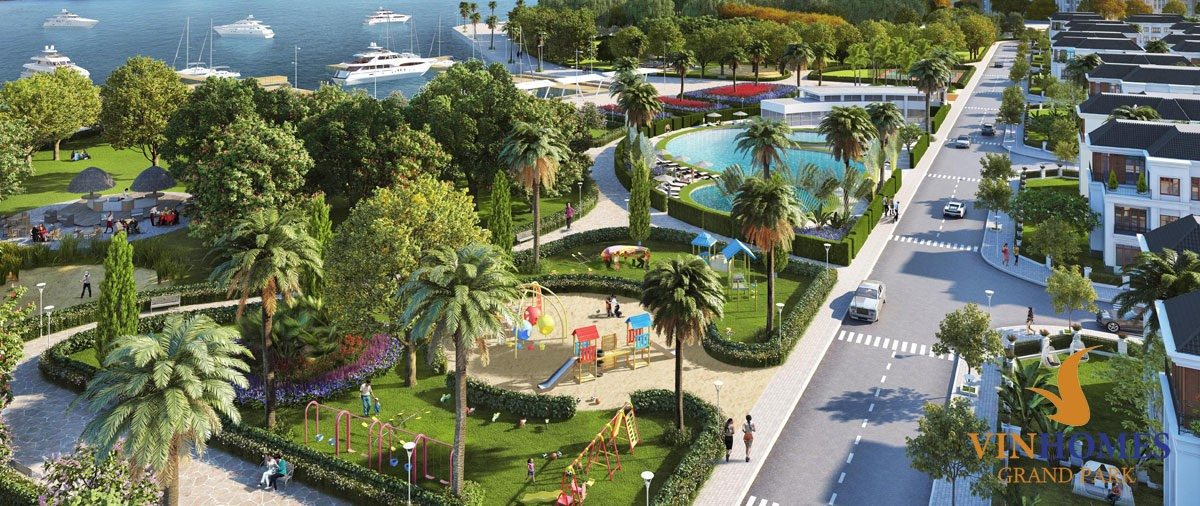 Tiện ích công viên xanh Vinhomes Grand Park