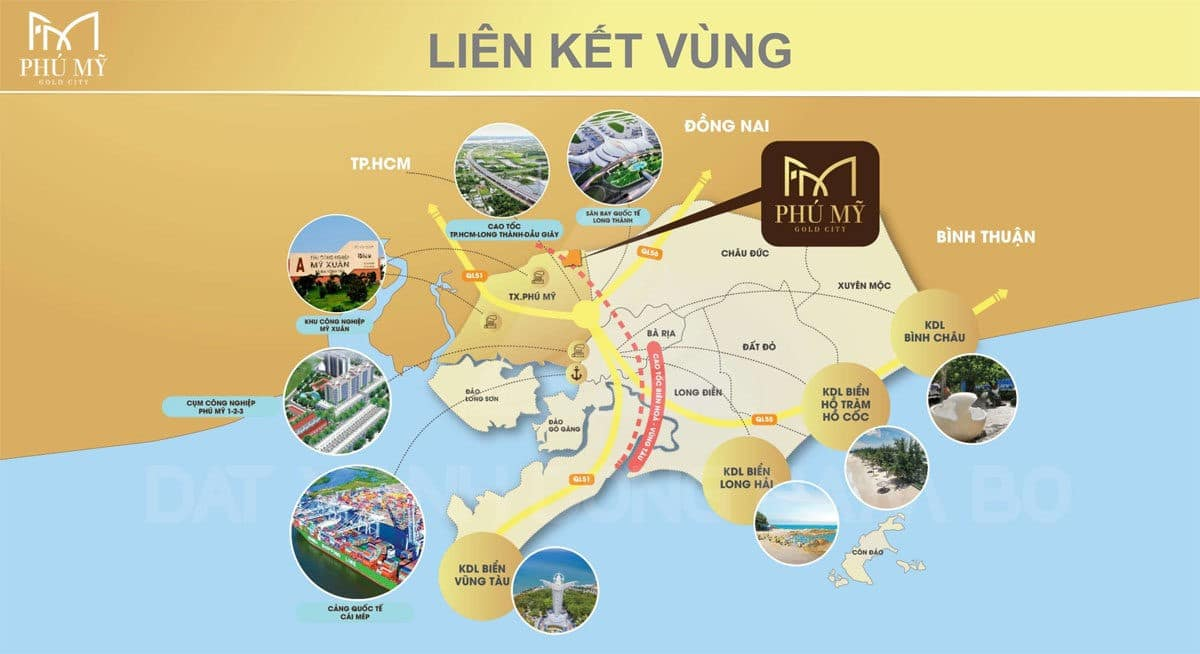 Tiện ích kết nối khu vực của Dự án Phú Mỹ Gold City