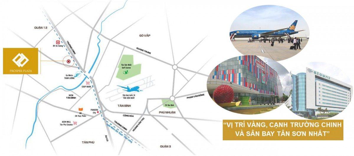 vị trí dự án prosper plaza - CĂN HỘ PROSPER PLAZA PHAN VĂN HỚN