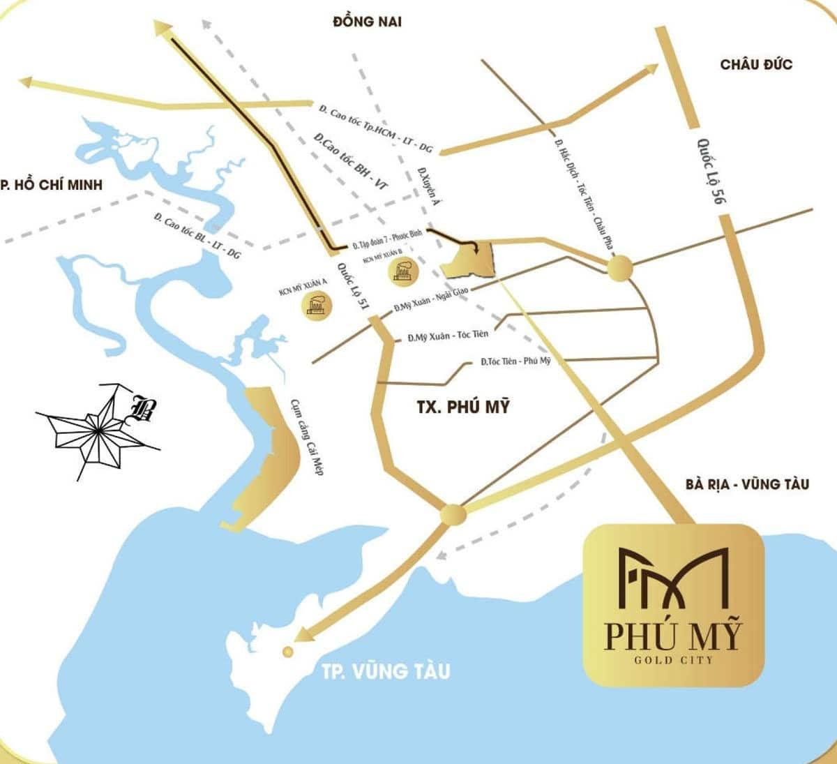 Vị trí trung tâm của Dự án Phú Mỹ Gold City