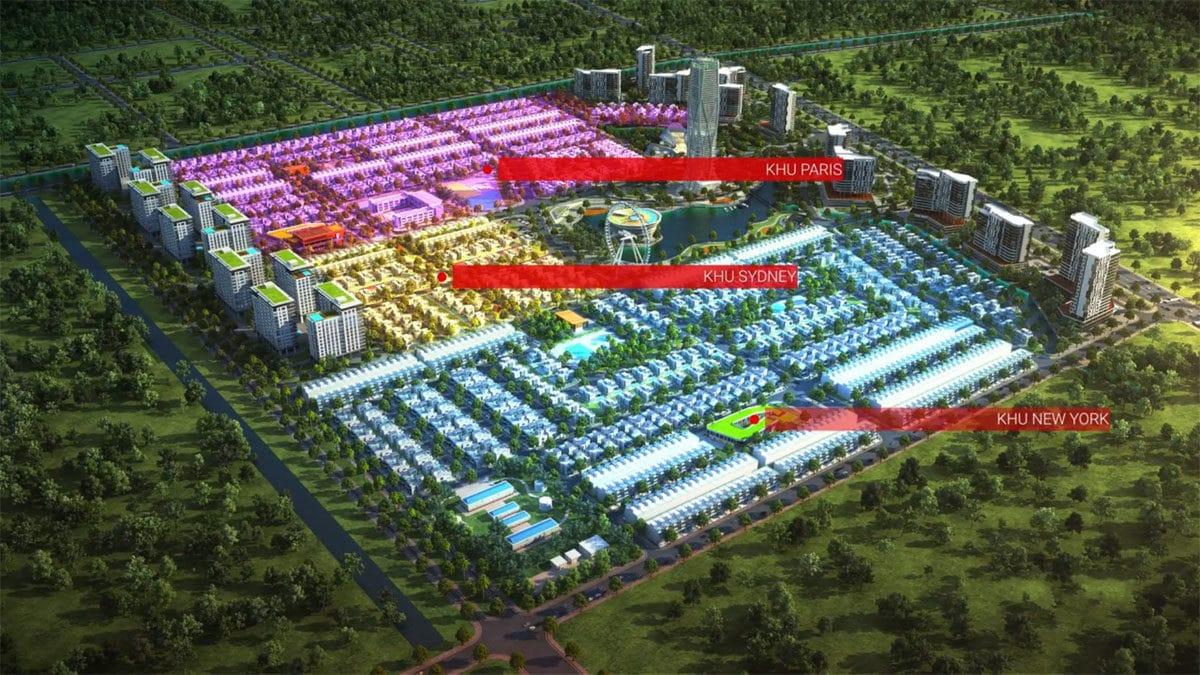 3 phan khu chinh cua green city cu chi - DỰ ÁN GREEN CITY TỈNH LỘ 8 CỦ CHI