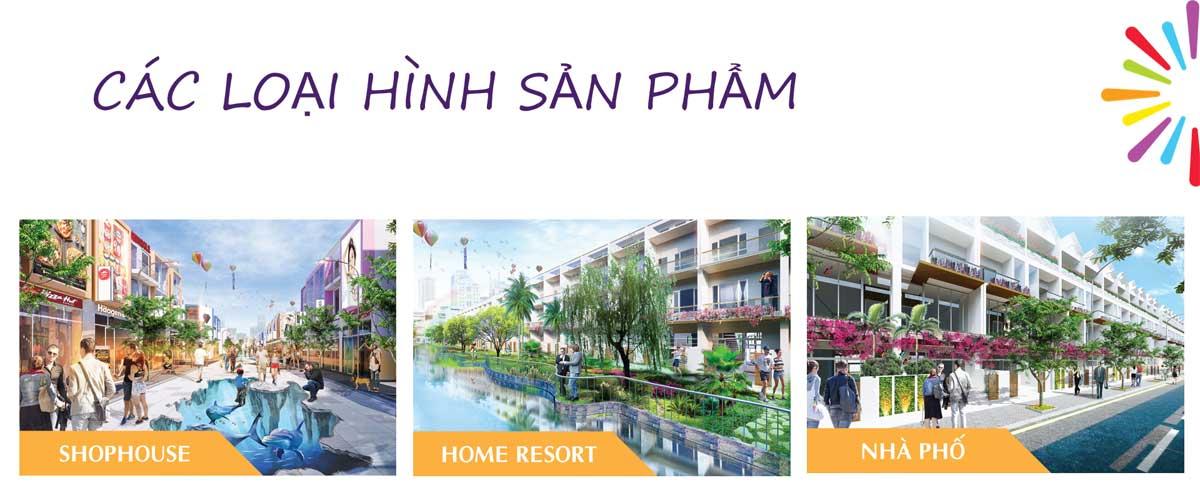 cac loai hinh san pham lic city - LIC CITY PHÚ MỸ