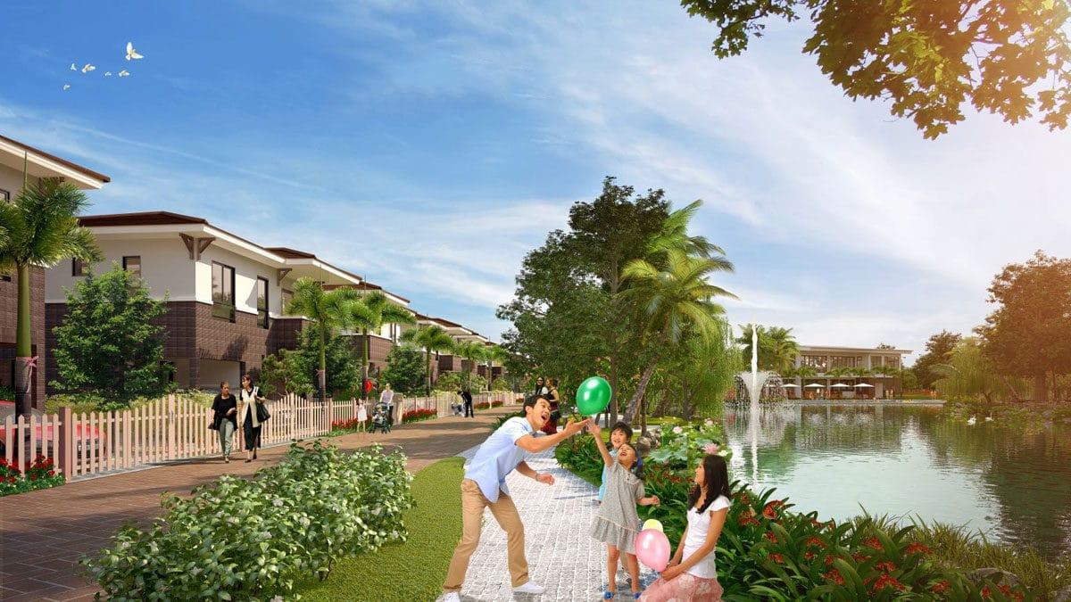 Đường dạo bộ tại Dự án Nhà phố - Biệt thự Golf Hills