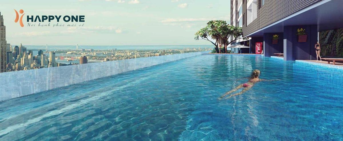 Hồ bơi tràn bờ Căn hộ Chung cư Happy One Bình Dương