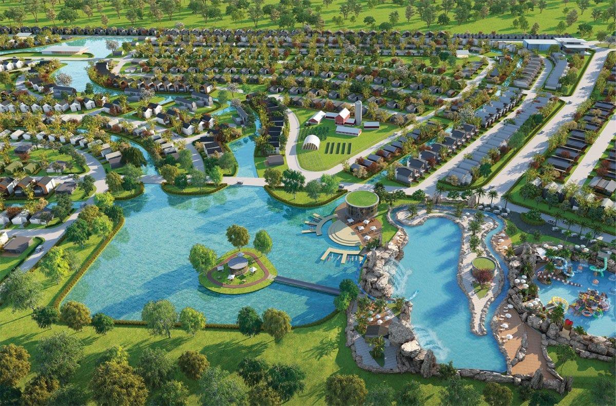 Hồ nước trung tâm Dự án NovaWorld Hồ Tràm