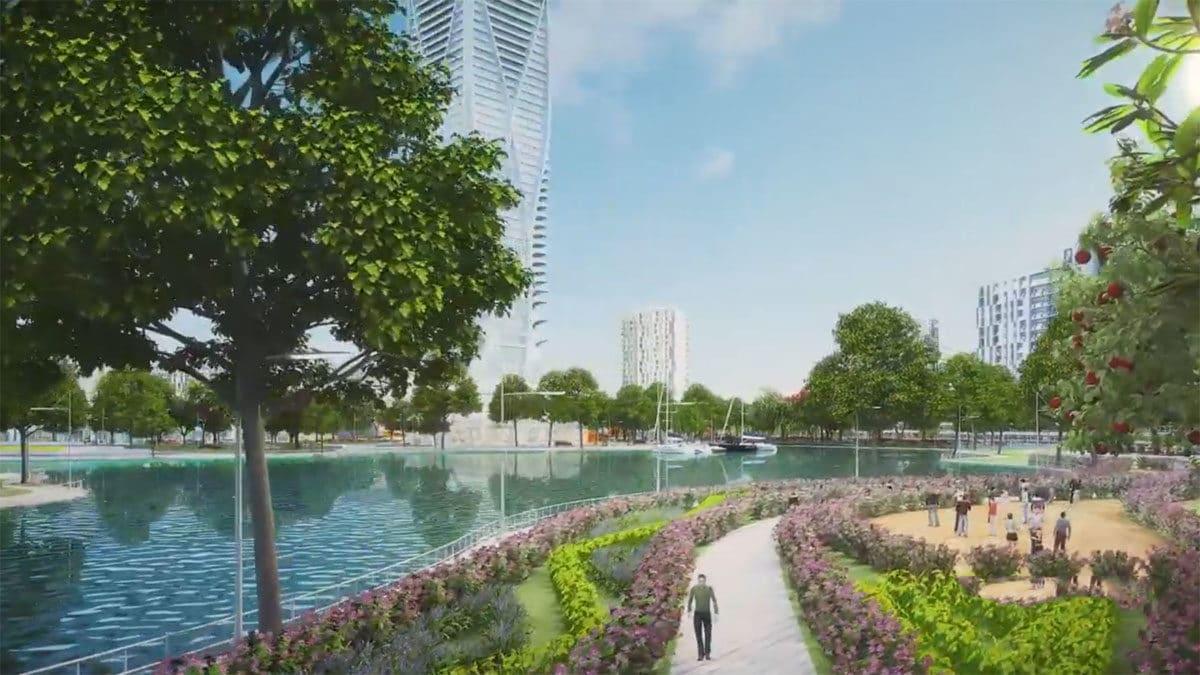 khu cong vien tai du an green city cu chi - DỰ ÁN GREEN CITY TỈNH LỘ 8 CỦ CHI