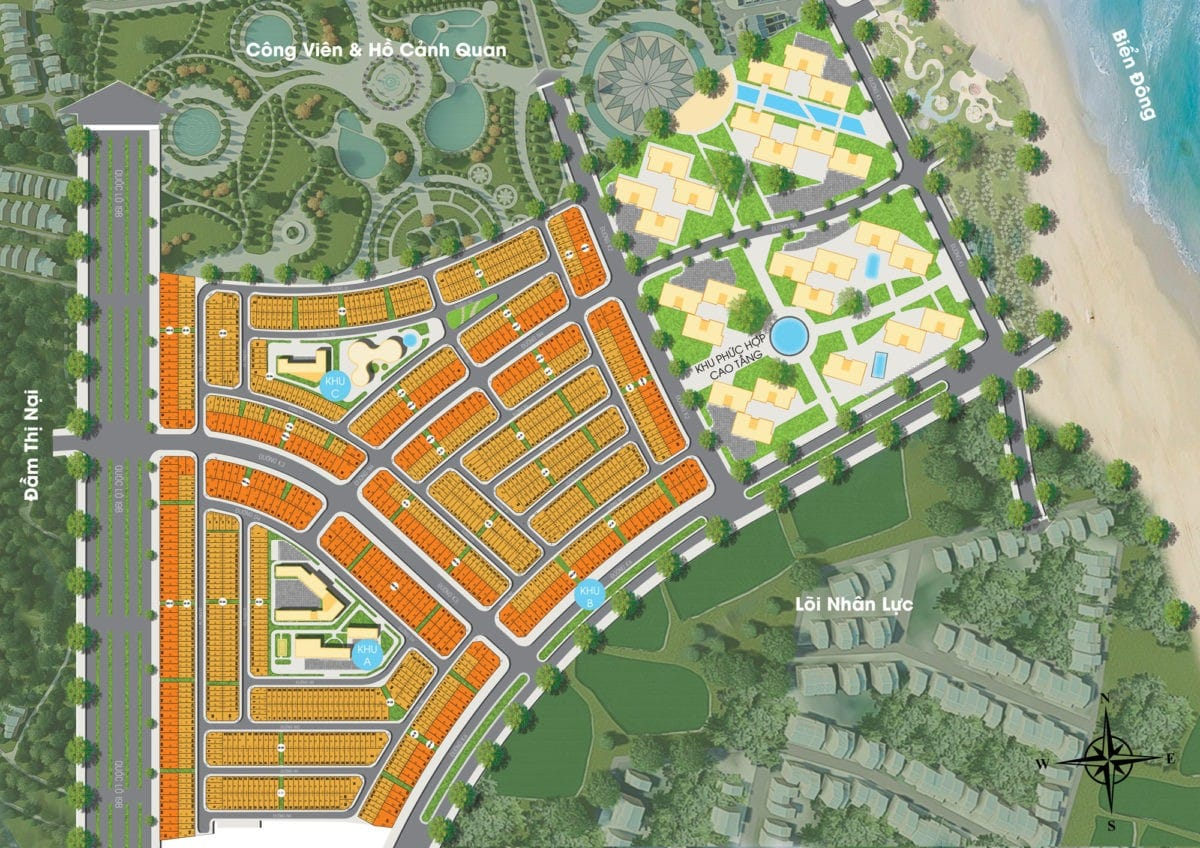 Mặt bằng phân lô Dự án Khu đô thị Nhơn Hội 0902 648 528