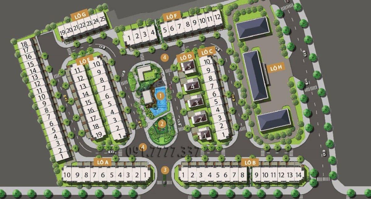 Mặt bằng phân lô Dự án Nhà phố – Biệt thự Golf Hills Quận 9