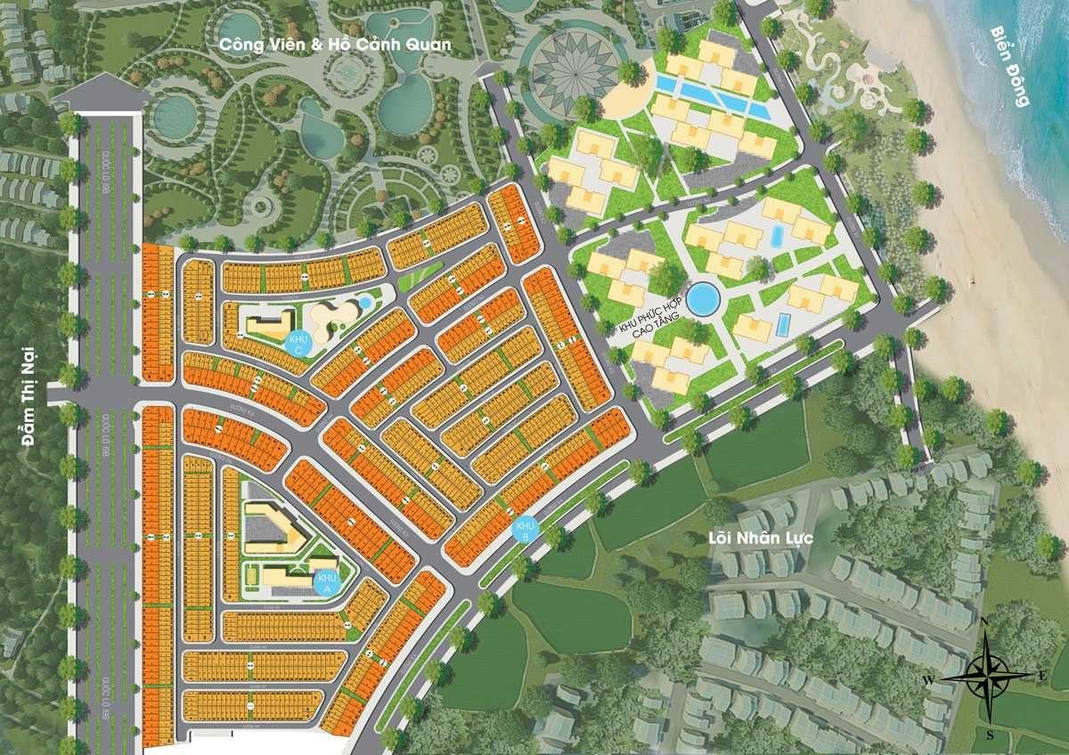 Mặt bằng phân lô Dự án Nhơn Hội New City