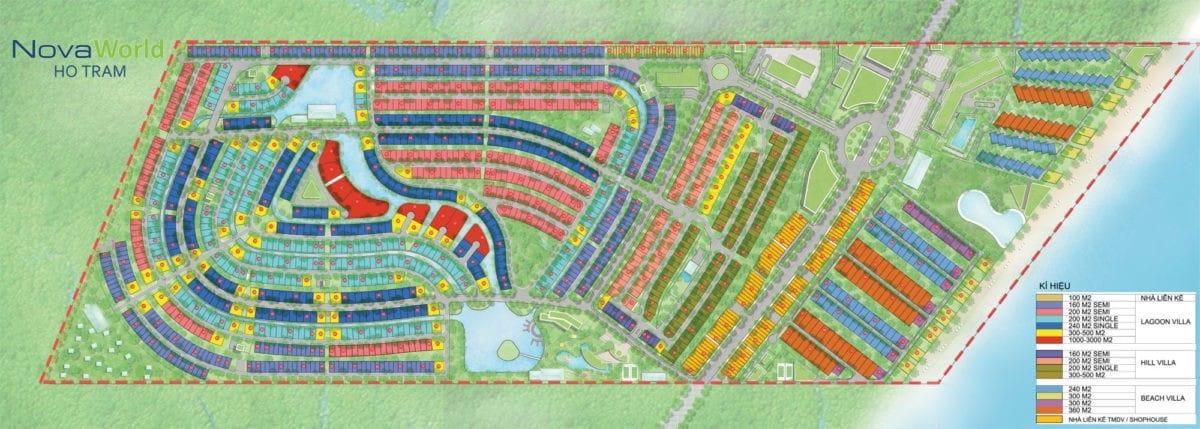 Sơ hồ mặt bàng phân lô Dự án NovaWorld Hồ Tràm
