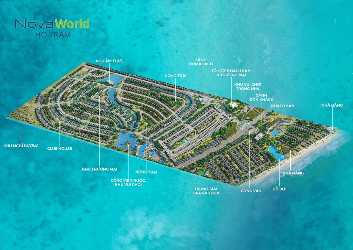Tổng thể Dự án Khu đô thị Du lịch Nghỉ dưỡng Giải trí NovaWorld Hồ Tràm