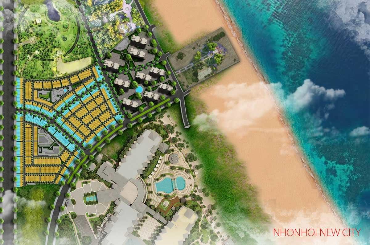 phoi canh du an nhon hoi new city 1 - CÔNG TY CỔ PHẦN BẤT ĐỘNG SẢN NETLAND