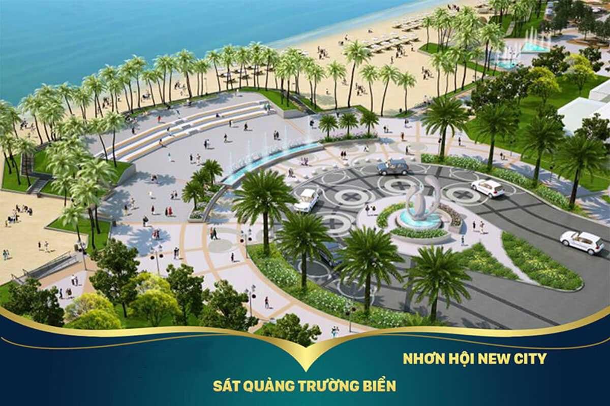 Quảng trường Khu đô thị sinh thái nhơn hội tại Nội khu Dự án Nhơn Hội New City