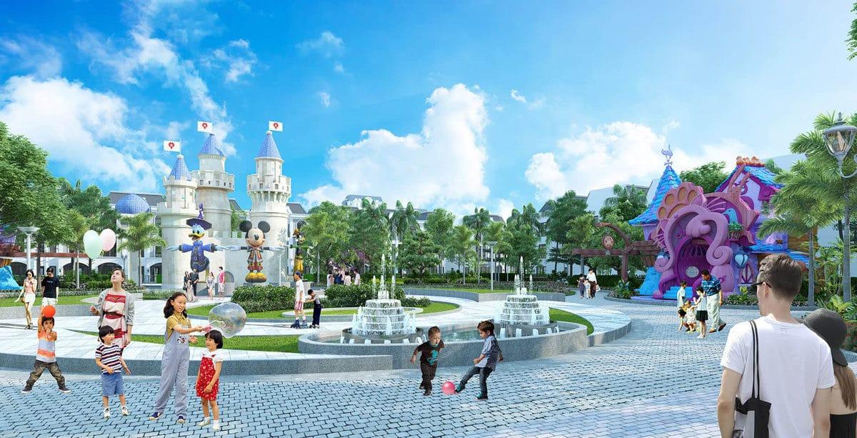 Quảng trường trung tâm Dự án Phúc An Garden